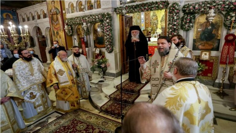 Ν. Ιωνία:Θεία Λειτουργία για την εορτή των Αγίων Αναργύρων